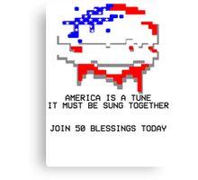 50 Blessings Propaganda - Hotline Miami Canvas Print