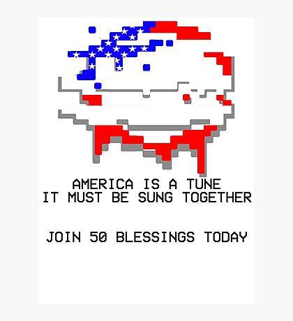 50 Blessings Propaganda - Hotline Miami Photographic Print