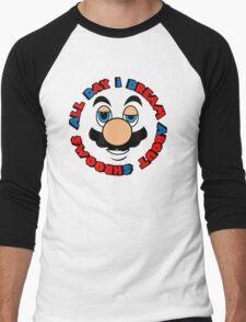 a.d.i.d.a.s. (all day i dream about shrooms)  Men's Baseball ¾ T-Shirt