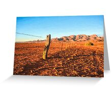 Outback Fence (GO6) Greeting Card