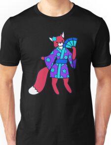 Little Red Fox in a Kimono  Unisex T-Shirt