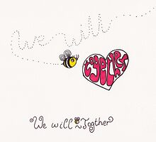We will bee together by Stevie the floating artist