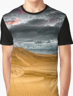 Sunset Storm on the Beach Graphic T-Shirt