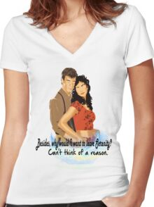 I Won't Say I'm in Love Women's Fitted V-Neck T-Shirt