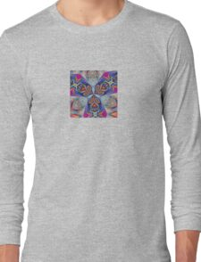 The Rule of Thirds Abstract Kaleidoscope Pattern Long Sleeve T-Shirt