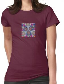 The Rule of Thirds Abstract Kaleidoscope Pattern Womens Fitted T-Shirt