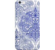 Happy Place Doodle in Cornflower Blue, White & Grey iPhone Case/Skin