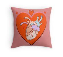 heart in heart, valentine tattoo art Throw Pillow