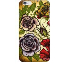 roses, rose tattoo flash sheet iPhone Case/Skin