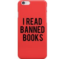I Read Banned Books - Red iPhone Case/Skin