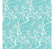 simple light blue waves pattern Photographic Print