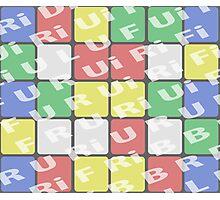 rubik cube Photographic Print