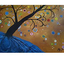 Magical Mystical Tree Blue Photographic Print