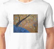 Magical Mystical Tree Blue Unisex T-Shirt