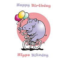 hippo on a bike Photographic Print