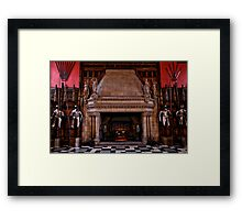 The Guarded Fireplace of Days Gone By Framed Print
