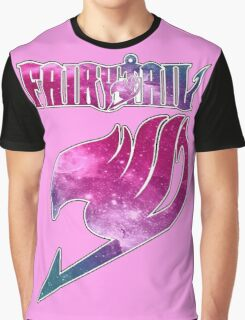 Fairy Tail - Pink Galaxy Logo Graphic T-Shirt