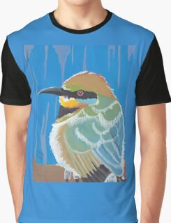 Rainbow Bee-Eater Portrait Graphic T-Shirt