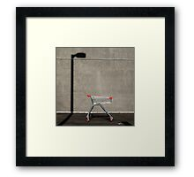 Lonely shopping trolley Framed Print