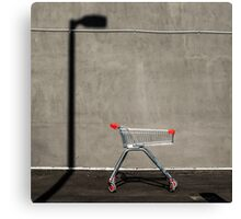 Lonely shopping trolley Canvas Print