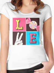 L.O.V.E  Women's Fitted Scoop T-Shirt