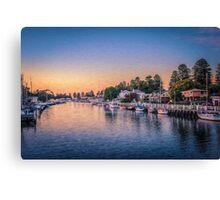 Port Fairy Sunset  (OJ) Canvas Print