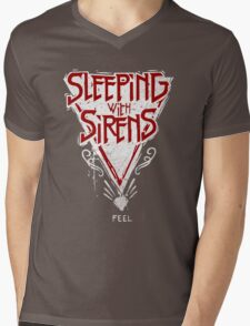 Sleeping with sirens music band Mens V-Neck T-Shirt