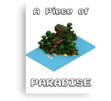 A Piece of Paradise [MINECRAFT] Canvas Print