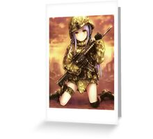 angel/tenshi, military gear Greeting Card