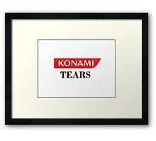 Konami Tears  Framed Print