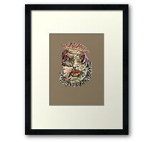 Fantacy Faces in my Fabric Framed Print