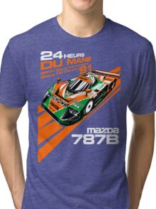 DU Mans Mazda 787B Tri-blend T-Shirt