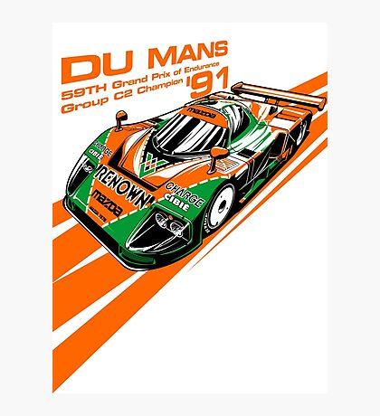 DU Mans Mazda 787B Photographic Print