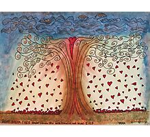Heart Break Tree Where Hearts Fly Free Photographic Print