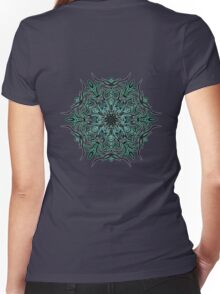 Cactus Inferno Women's Fitted V-Neck T-Shirt