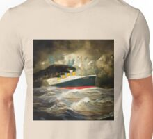 A digital painting of RMS Titanic Unisex T-Shirt