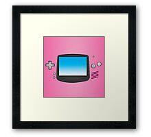 Pink Nintendo Gameboy advance illustration Framed Print