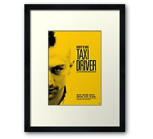 Taxi Driver - Movie Poster Framed Print