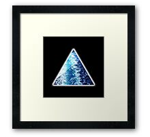 Sea  Triangle Framed Print
