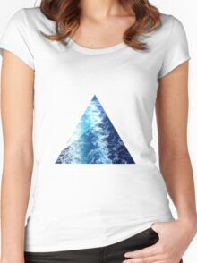 Sea  Triangle Women's Fitted Scoop T-Shirt