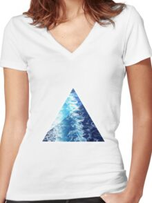 Sea  Triangle Women's Fitted V-Neck T-Shirt