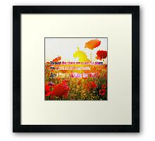 u2 with or without you Framed Print
