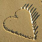 Heart Installation on Darwin Beach by Carol James