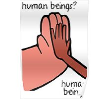 Connie & Greg - Human Beings Poster