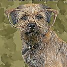 Border Terrier Hipster Birthday Card by Moonlake