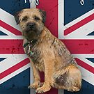 Birthday Card With Border Terrier And Union Jack, by Moonlake