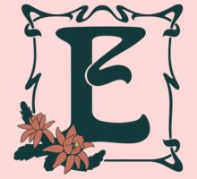 Fancy art nouveau letter E, flower Kids Tee