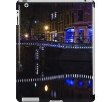 Magical Amsterdam Night - Blue, White and Purple Lights Symmetry iPad Case/Skin