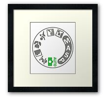 Digital SLR Camera Dial Framed Print