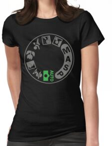 Digital SLR Camera Dial Womens Fitted T-Shirt